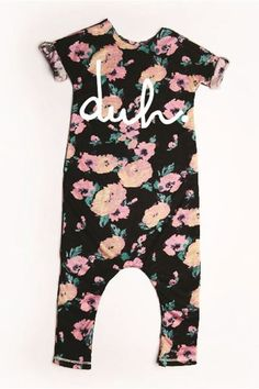 535db3968b7 Picture of Rags To Raches Duh Floral Print Romper Toddler Girl Style