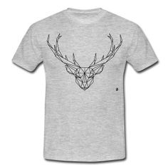 AD Geometric Deer Camisetas - Camiseta hombre