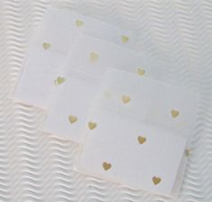 These mini envelopes are lovingly made out of translucent white vellum. They measure 3 1/8 x 2 inches each. Each comes fitted with folded note for you to write your own message. Theyre packaged in an environmentally friendly, resealable cello envelope. Here are just a few of the ideas people have had for using them: • a client thank you • gift enclosures • notes left in secret places, lunch boxes • love notes • scrapbook journaling * a place for ticket stubs, notes, etc. in memory books ...