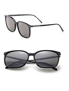 Saint Laurent 58MM Square Sunglasses - Black