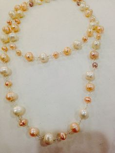 Nemesis hand wrapped pearl necklace by NemesisNYC on Etsy