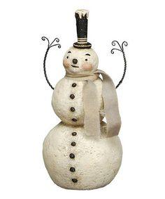 Look at this #zulilyfind! Happy Stack Snowman Figurine by Primitives by Kathy #zulilyfinds