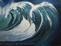 "Saatchi Online Artist: Surajit Chatterjee; Acrylic, 2011, Painting ""Wave"""