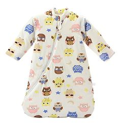"""Missfly Baby Sleeping Bag with detachable Sleeves Winter Thickened, Yellow Owl, L(length:39"""") - $23.37"""