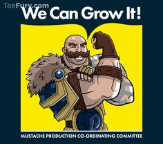 """#Movember Spotlight -- """"We Can Grow It!"""" by Haragos is available now for $17 in #TeeFury."""