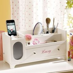 cute charging station w/ speaker!                                                                                                                                                                                 More