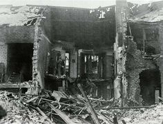 February 3 people died when 5 and 3 Tunstall Vale were destroyed. Miraculously the next morning, a baby was found practically unhurt. Sunderland Echo, Bed Next, Victorian Buildings, Air Raid, Past, Scene, Ww2, February, Street