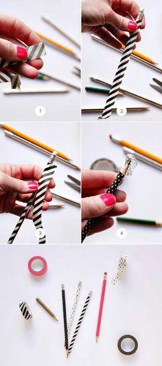Washi tape pencils.