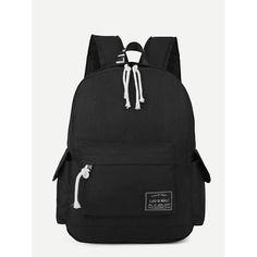 0238f7b8ef Slogan Detail Bag With Striped Strap | Fashion | Fashion outfits, Fashion,  Handbags