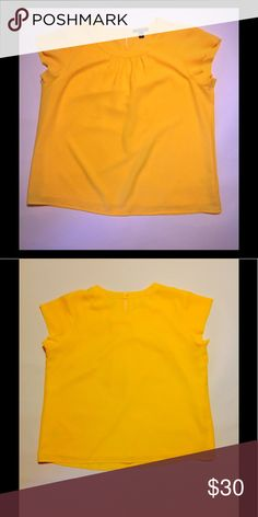 Lands' End Blouse Yellow Blouse with cap sleeves. Lands' End Tops Blouses