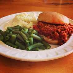 Turkey Sloppy Joe w/ Vegetable and Mashed Cauliflower.  Just 383 calories and $5.99! http://www.lambsfarm.org/new-healthy-menu-at-magnolia-cafe/