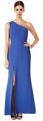 Calvin Klein One Shoulder Side Slit Gown.