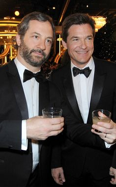 Judd Apatow & Jason Bateman at a Golden Globes party