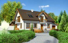 Projekt domu - Dom przy Alabastrowej 20 115.00m² | GALERIADOMOW.PL Case, Home Fashion, Mansions, House Styles, Home Decor, Decoration Home, Manor Houses, Room Decor, Villas