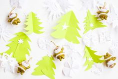 Paper origami #christmastree #snowflakes for your blog, #website