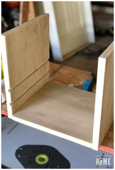 Organize and charge your many electronic devices with this DIY Charging Station. Learn how to easily make one out of scrap wood! Electronic Charging Station, Woodworking Kit For Kids, Diy Projects For Bedroom, Kitchen Cabinet Design, Electronic Devices, Diy Home Decor, Organization, Shell, Learning