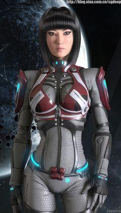Sci-Fi Art Space Girls | Star Era,Engineer Picture (3d, sci-fi, girl, woman, space)