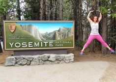 Jumping Jacks for National Parks! Why? Because we love our national parks and jumping jacks might as well put them together.  #suckitupfitness #yosemite #california
