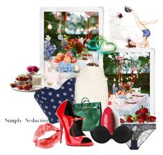 """""""Simply Seductive"""" by the-house-of-kasin ❤ liked on Polyvore featuring Robert Rodriguez, Hermès, Amy Winehouse, Giuseppe Zanotti, Elle Macpherson Intimates, Dolce&Gabbana, Fashion Forms, picnic and gardenpicnic"""