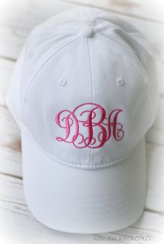 bb46445513b0c Items similar to Monogrammed Women s BallCaps-Ladies Beach Hat- Spring  Break Ball Cap-Bridesmaids Gift- Girls Monogrammed Caps-Pool Hat on Etsy