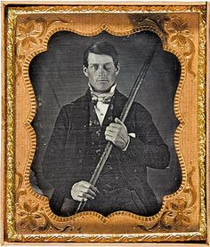 """phineas gage. i love his story! i came across it when wiki'ing """"penetrating head injury"""" but here's a magical, smithsonian-penned article on the finding of the first post-accident image of gage. links to more in-depth reading about his actual recovery and subsequent neurological changes."""