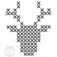 cross stitch or hama beads patterns buck Cross Stitching, Cross Stitch Embroidery, Cross Stitch Patterns, Cross Stitch Charts, Christmas Cross, Christmas Diy, Xmas, Reindeer Christmas, Beading Patterns