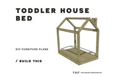 Free DIY Furniture Plans // How to Build a Toddler House Bed
