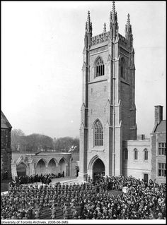 Soldier's Tower at the University of Toronto, 1924
