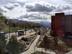 Cloudy, crisp and clear on campus today. #beUTAHful