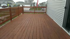 The deck after using Cabot stain #1417 New Redwood