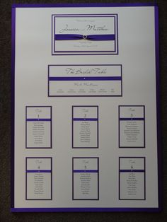 Purple themed Table Plan