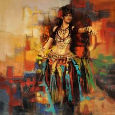 Belly Dance Art Painting - Belly Dancer 9 by Corporate Art Task Force Bd Art, Dance Paintings, Oil Paintings, Painting Art, Tribal Belly Dance, Belly Dancers, Flamenco Dancers, Tribal Fashion, World Cultures