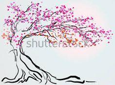 arbol de cerezo dibujo - Buscar con Google