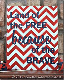 Fabulous project to show how proud we are of the men and women who serve! Silhouette Blog: Patriotic home decor project