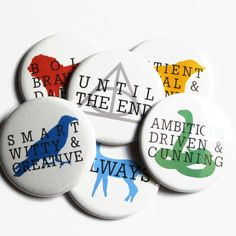 Harry Potter Buttons Clothes Accessory Hogwarts Pinback Buttons. $2.75, via Etsy.
