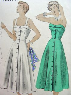 Vintage 50's VOGUE Sewing Pattern 6710   Lovely by anne8865, $29.60
