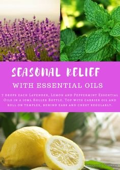 Seasonal Relief with Essential Oils - the best natural solution!