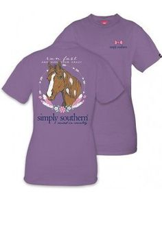 "Simply Southern ""Run Fast"" Tee- Purple from Chocolate Shoe Boutique"