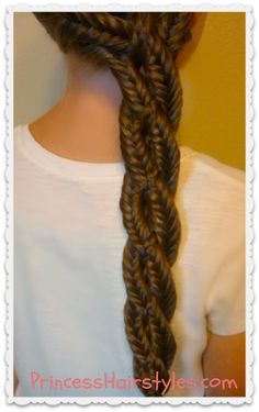 four strand braid with 3 fishtails and one english braid