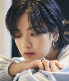 Korean Girl, Asian Girl, Lee Joo Young, Rap Wallpaper, Very Short Hair, Aesthetic People, Bye Bye, Tomboy, Girl Crushes