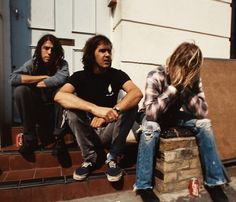 Nirvana having a photo-shoot on one of the hottest days in...