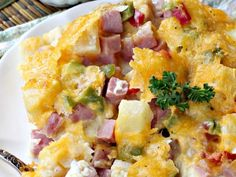 Hawaiian Breakfast Casserole - Can't Stay Out of the Kitchen