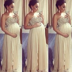 She looks soo pretty!... Just an idea, for those who are pregnant and need to wear something classy for a special occasion