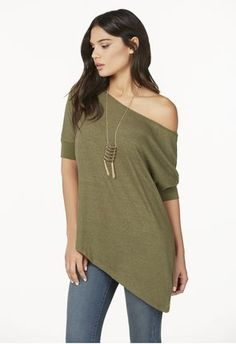 OFF SHOULDER SLOUCHY TEE