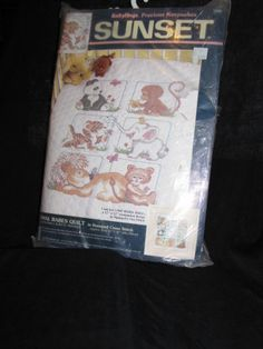 Dimensions Crafts - Animal Babes Baby Quilt Stamped Cross Stitch Kit # 13083 #DimensionsCrafts
