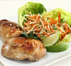 Vietnamese Sticky Chicken with Daikon and Carrot Slaw from @Chris Cote @ The Café Sucré Farine