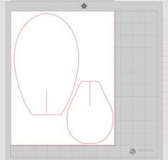 Je fis des fichiers coupés Silhouette® pour couper mes pétales sur papier cartonné