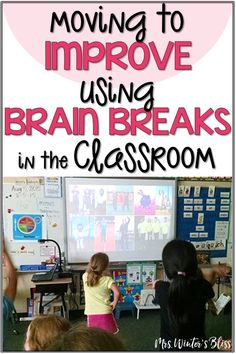 Free brain break ideas perfect for elementary kids. These brain break activities are a fun indoor recess activity or any break when students need to get up and move in the classroom! Fun Brain, Brain Gym, Elementary Science, Elementary Education, Brain Breaks In The Classroom Elementary, Physical Education, Elementary Music, Upper Elementary, Music Education