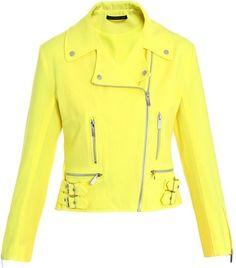 Neon yellow biker jacket by Christopher Kane