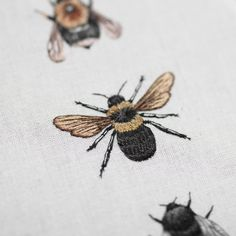 Embroidery project following the beautiful british wildlife